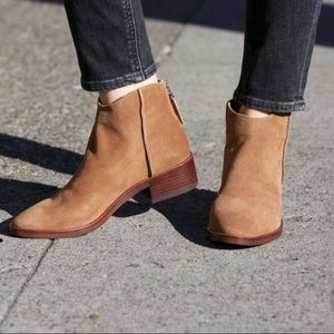 Dolce Vita Tucker Back Suede Leather Ankle Booties
